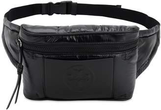 Tory Burch Logo Embossed Leather & Nylon Belt Bag
