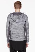 Diesel Heather Grey reversible Bernice hoodie