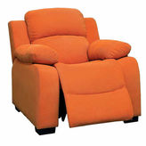 Asstd National Brand Daniels Kids Fabric Pad-Arm Recliner