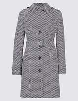 M&S Collection Printed Trench Coat with StormwearTM