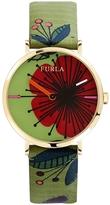 Furla Women's Giada Sunray Green Dial Watch, 33mm