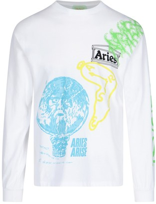 Aries All-over Prints Long Sleeves T-shirt