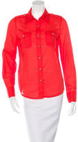 Tory Burch Long Sleeve Button-Up Top