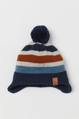 H&M Fleece-lined Hat - Blue