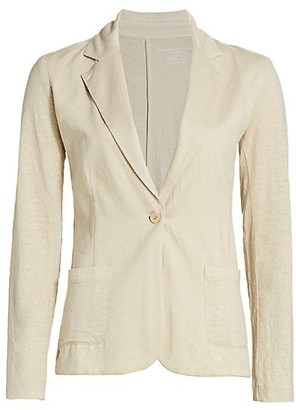 Majestic Filatures Stretch Linen-Knit Blazer