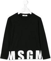 MSGM logo sweatshirt - kids - Cotton - 4 yrs