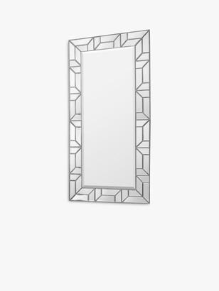 Unbranded Verbier Rectangular Geometric Frame Leaner / Wall Mirror, 157.5 x 80cm
