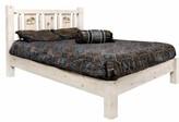 Tustin Laser Engraved Moose Design Platform Bed Loon Peak Size: King