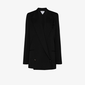 Bottega Veneta Long-Line Double-Breasted Blazer Jacket