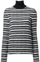 Martin Grant striped turtleneck jumper - women - Cotton/Polyamide/Polyester/Virgin Wool - 38