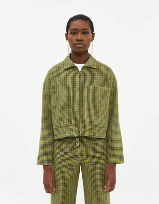 Paloma Wool Montehermoso Check Jacket in Lime