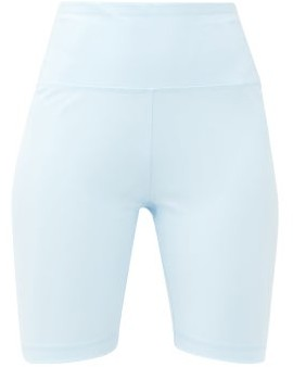 Wardrobe NYC Release 02 High-rise Jersey Bike Shorts - Light Blue