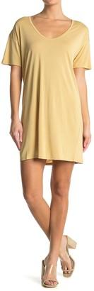 Double Zero Short Sleeve Drop Shoulder T-Shirt Dress