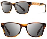 Shwood Men's 'Canby' 54Mm Polarized Wood Sunglasses - Tortoise/ Maple Burl/ Grey