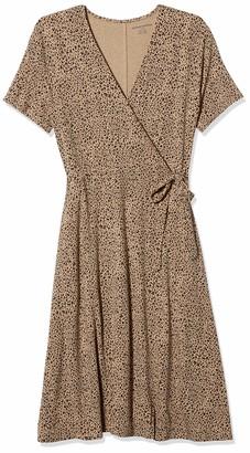 Amazon Essentials Women's Standard Cap-Sleeve Faux-Wrap Dress