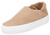 Tibi Charlie Low-Top Shearling Sneaker