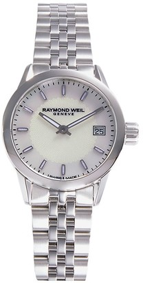 Raymond Weil Stainless Steel & Mother-Of-Pearl Bracelet Watch