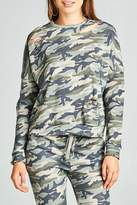Minx Camouflage Distressed Sweater