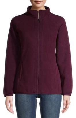 Time and Tru Women's Sweater Fleece Full-Zip Jacket