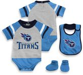 NFL Tennessee Titans 3-Piece Creeper Bib and Bootie Set