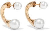 Chloé Darcey Gold-tone Faux Pearl Earrings - one size