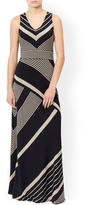 Monsoon Melinda Shorter Length Stripe Maxi Skirt