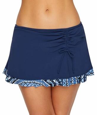 Gottex Women's Asymmetrical Side Tie Skirted Swimsuit Bottom