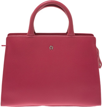 Aigner Pink Leather Cybill Tote