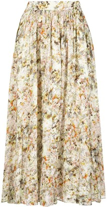 Co High-Waisted Floral Skirt
