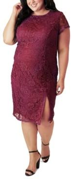 Marée Pour Toi Plus Size Lace Sheath Dress