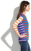 Madewell Long-Sleeve Tee in Colorblock Stripe