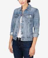 Lucky Brand Ripped Denim Jacket