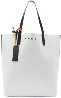 Marni Green and Off-White PVC Tote