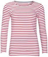SOLS Womens/Ladies Marine Long Sleeve Stripe T-Shirt (XL)
