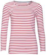 SOLS Womens/Ladies Marine Long Sleeve Stripe T-Shirt (XXL)