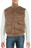 Black Brown 1826 Suede Puffer Vest