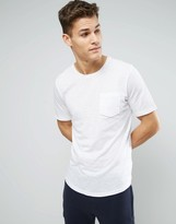 Sisley Longline T-Shirt With Pocket And Curved Hem