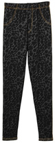 Charcoal Cheetah Faux Fur-Lined Jeggings