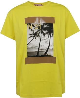N°21 N.21 Graphic Photo Print T-shirt