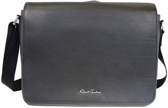 Robert Graham Textured Leather Messenger Bag, Brown
