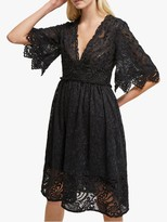 French Connection Alle Sandra Lace Dress, Black