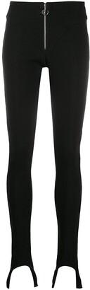 Lourdes Stirrup-Hem Fitted Trousers