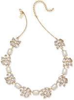 Kate Spade Gold-Tone Crystal & Imitation Pearl Collar Necklace