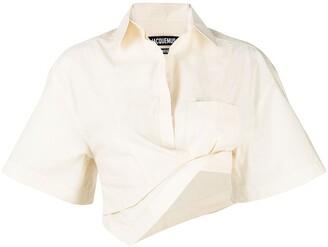 Jacquemus Asymmetric Cropped Shirt