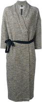 Humanoid belted coat - women - Cotton/Polyamide/Elastolefin - M
