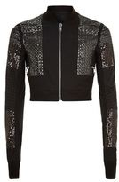 Rick Owens Sequinned Cropped Bomber Jacket