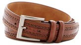 Tailorbyrd Croco Embossed Double Braid Leather Belt