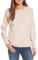 Halogen Women's Mesh Inset Sleeve Sweatshirt