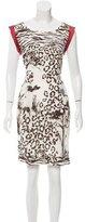 Philosophy di Alberta Ferretti Printed Silk Dress