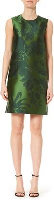 Carolina Herrera Sleeveless Jacquard Shift Dress